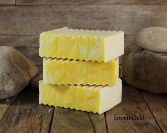 Honeysuckle Handmade Soap / Shampoo - Conditioning Soap - Cold Process  - Vegan - One 6 Ounce +/- Bar