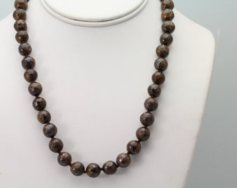 Bronzite Necklace. Listing 494018702
