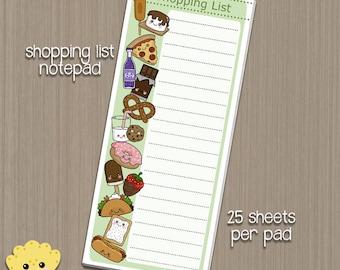 Shopping List - 25 sheet Notepad