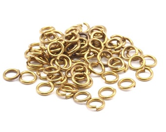 6mm Jump Ring - 500 Raw Brass Jump Rings (6x1mm)    A0357