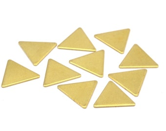 Brass Stamping Blank, 50 Raw Brass Triangle Stamping Blanks (14x14x14x0.80mm) A0905