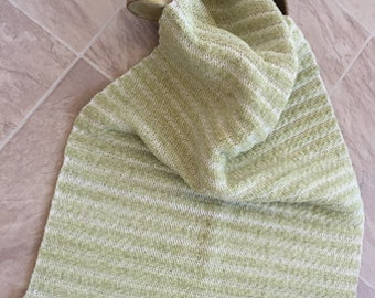 Handwoven towel, handwoven guest towel, handwoven kitchen towel, cotton chenille towel, sage green towel, OOAK towel