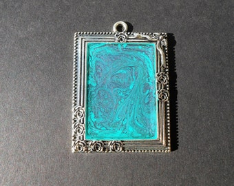 Teal & Purple Pendant