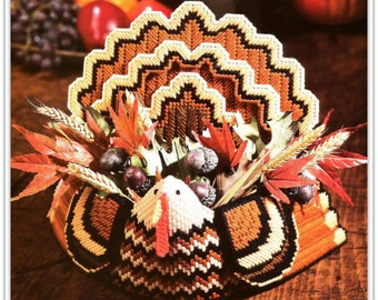 Turkey Centerpiece and Turkey & Leaves Door Decoration Patterns - Plastic Canvas - PDF 61116602