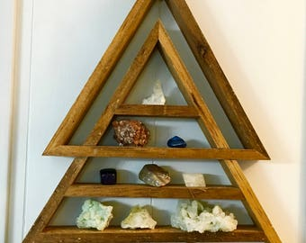 Extra Large Stacked Triangle Shelf, Cypress Shelf, Triangle Shelf, Pyramid Shelf, Mountain Shelf, Stacked Shelf, Geometrical Shelf