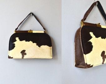 Pony handbag | vintage 1950s pony bag | 50s ponyhair handbag