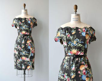 Heaven Sent dress | vintage 1990s dress | floral print 90s dress