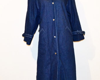 Vintage Denim Maxi Coat Every Season