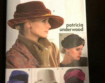 Hollywood 1940's Ladies Hats Vogue Pattern V8142 Sewing Pattern