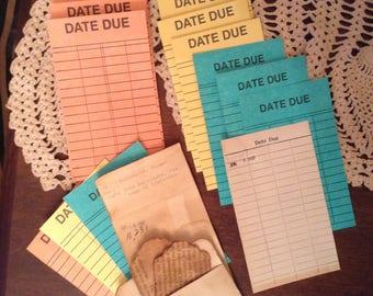 Junk Journal Ephemera, Library Cards