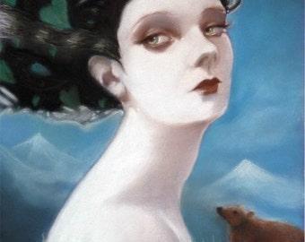California dreaming - original pastel by Celene Petrulak