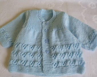 Baby Boy Sweater, Lace Baby Sweater, Newborn Sweater, Knitted Newborn Sweater, Clothing Newborn, Take Home, Baby Shower.