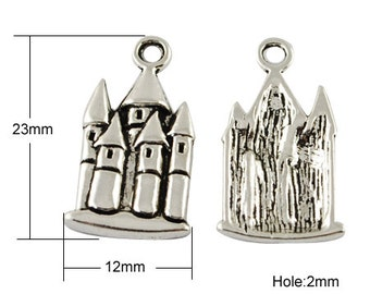 Castle/Sand Castle/Emerald City Charm - Set of 10 - #HK1202