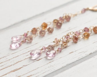 Tourmaline Pink Topaz Earring