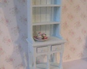 Dollhouse Kitchen Hutch small hutch Blue dresser dollhouse dresser pale blue  Dresser twelfth scale dollhouse miniature