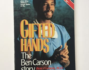 SIGNED Gifted Hands The Ben Carson Story Paperback 1st Edition AUTOGRAPHED