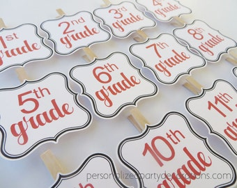 Graduation Photo Banner, Photo Banner Clips, Grade Photo Banner, High School Graduation, Graduation Party Decorations, You Choose The Color