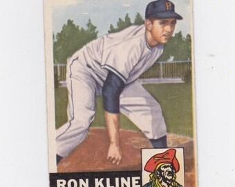 1953 Ron Kline pitcher Pittsburgh Pirates Topps # 175 baseball card