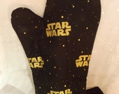 Star Wars Oven Mitts, Black and Gold Star Wars Kitchen, Geek Party, Star Wars Kitchenware, Geeky Tableware