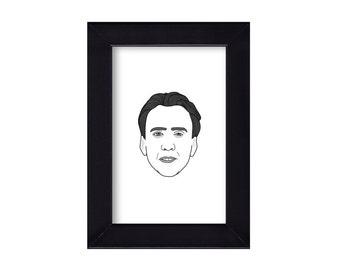 4 x 6 Nicholas Cage Portrait