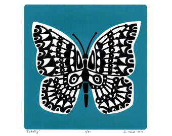 "Fine Art Print ""Butterfly""in Slate Teal"
