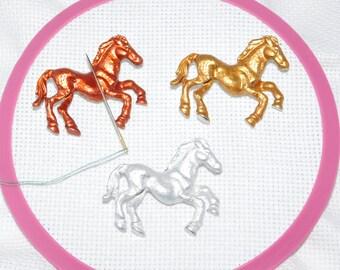 Needle minder, Needle Nanny, Horse Magnet, Pattern Holder, Cross stitch Minder, Horse Minder, Needle Holder, Needle Magnet