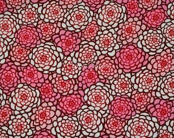 Japanese Fabric Chrysanthemum Pink by the Half Yard Japanese Modern Kimono Print Floral