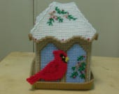 RESERVED FOR CAROL S Bird House Tissue Box Cover