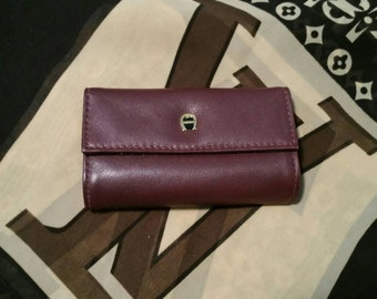 Vintage Etienne Aigner leather jewelry storage pouch