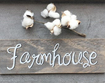 Farmhouse sign, hand painted, rustic, barnwood, farmhouse decor
