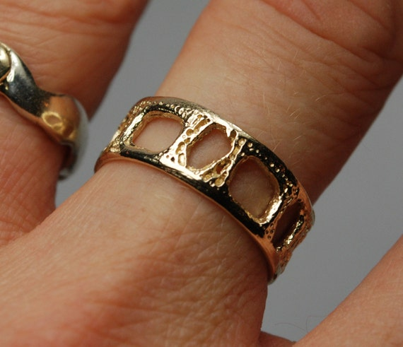 Lacy Gold Shark Vertebra Ring