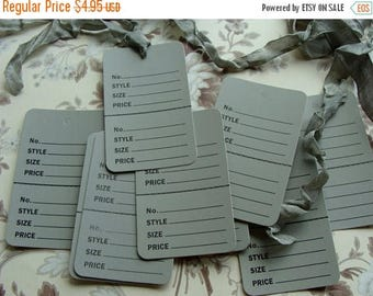 ON SALE One Dozen Vintage Style Price Tags for Altered Art