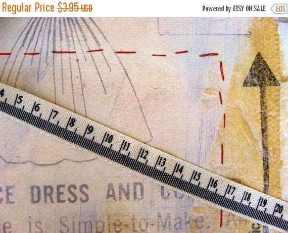ONSALE 1 Yard Measuring Tape Twill Ribbon Trim