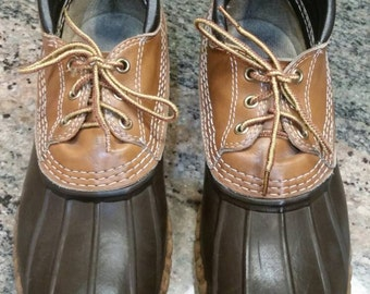 LL Bean boots, 8 mens, 9 1/2 womens, vintage, brown, duck muck
