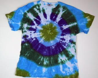 Look Into My Eyes ~ Tie Dye T-Shirt (Hanes Her Way Vintage Size XL) (One of a Kind)