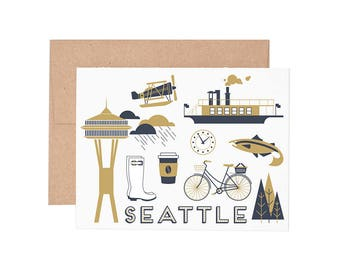 Boxed Cards - Seattle Letterpress Greeting Cards - Boxed Set | Blank Cards | All Occassion