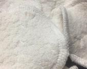 MamaBear Organic Cotton Sherpa Rounds, Reusable Cotton Balls, Facial Rounds - Baker's Dozen