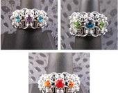 Helm Rhinestone Ring Kit - choose color