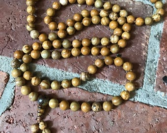 Tiger Jasper 108 Bead Mala Necklace