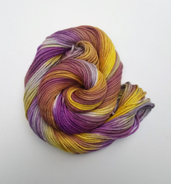 Resilient- 100% Organic Cotton, Hand Dyed, Fingering Weight, Hand Painted Yarn