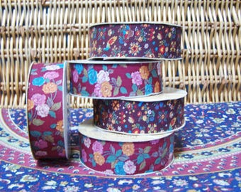 Floral fabric, Floral Trim, Sewing notions, Floral fabric trim, Vintage supply, Dressmaking supply, Sewing supply