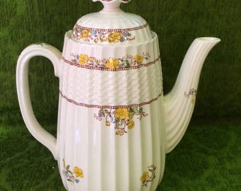 "Copeland Coffee Pot ""Buttercup"" Old Mark"