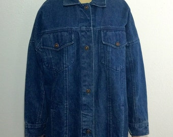 Belma 1980s vintage oversized denim jacket
