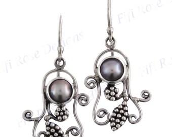 "13/16"" Freshwater Pearl 925 Sterling Silver Earrings"