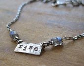 simple truths - rise - sterling silver and labradorite necklace