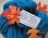 Turquoise-Blue  Hand Spun and Hand Dyed Yarn