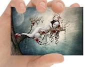 Fairy Tale ACEO Card - Fairytale Art - ACEO Art Print - Miniature Art Print - Collectable Card - Sleeping Beauty