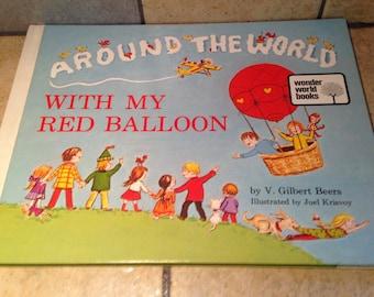 1973 Around the World With My Red Balloon Children's Book