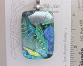 Kelly Green Ice Charm- Fused Glass Jewelry handmade in North Carolina