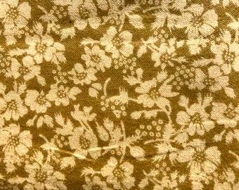 1/2 yard of premium flannel fabric - Light Green / beige (143FH)